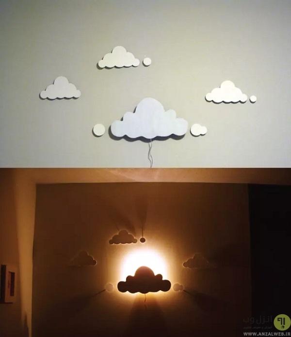ساخت چراغ خواب ابری