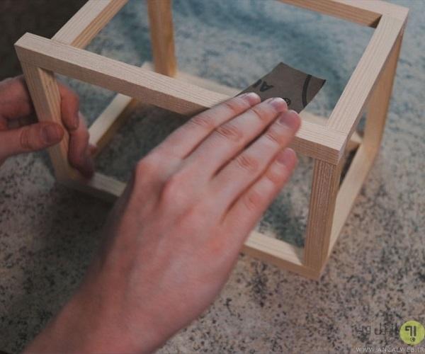 ساخت چراغ خواب دیواری