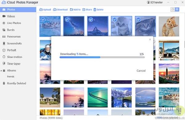 مدیریت عکس iCloud