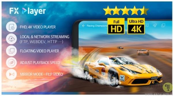 بهترین پخش کننده فیلم برای اندروید FX Player