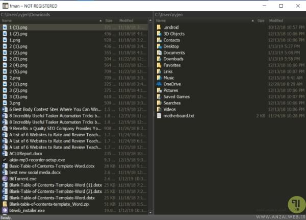 بهترین فایل منیجر ویندوز 10 ، 8 و 7، اکسپلورر fman برای استفاده در ویندوز