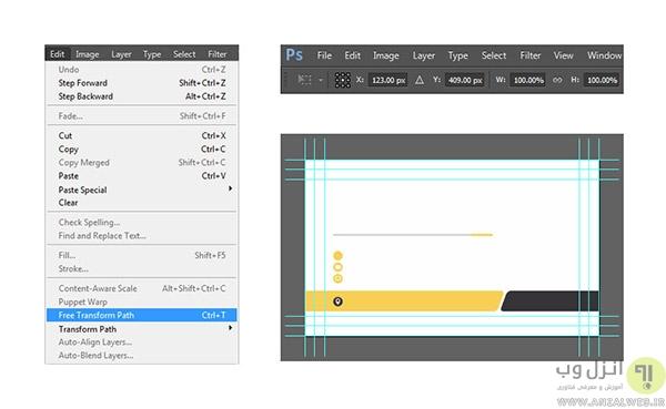 آموزش <strong>کامل</strong> تصویری طراحی کارت ویزیت پشت و رو در فتوشاپ