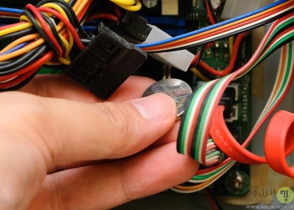 تعویض باتری مادربرد