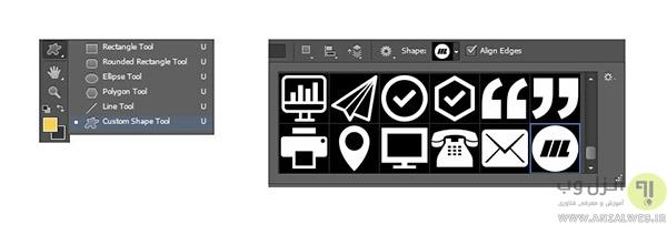 آموزش کامل تصویری طراحی کارت ویزیت پشت و رو در فتوشاپ