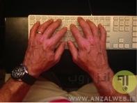 مچ دست خود را صاف نگه دارید.