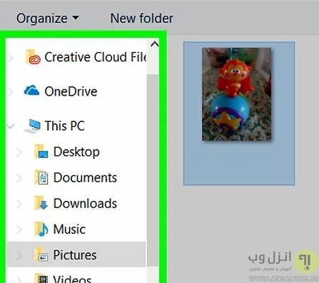 عکس گذاشتن روی اکانت ویندوز 10