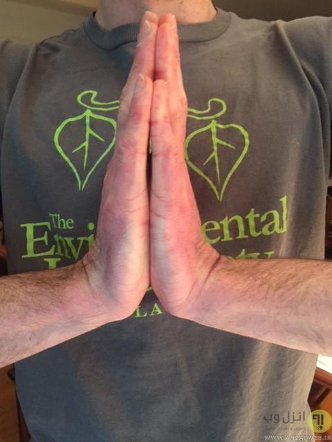موقعیت دست هایتان هنگام تایپ