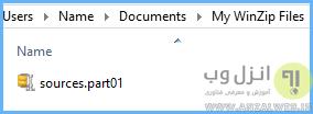 نحوه اکسترکت فایل های چند پارتی اندروی