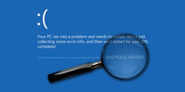 رفع ارور Bad Pool Header و Bad Pool Caller صفحه آبی ویندوز 10 و 8