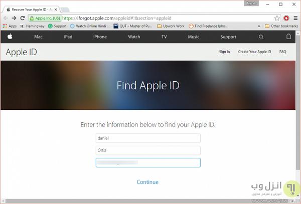 مشکل your apple id has been disabled