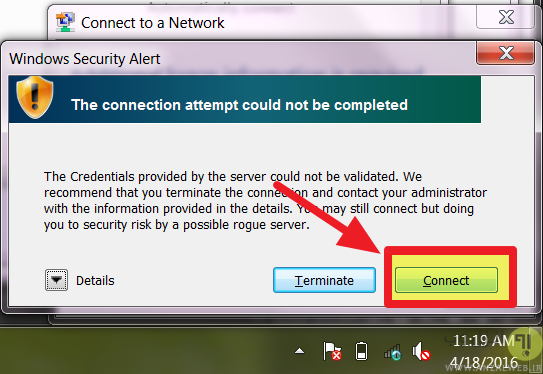 %حل مشکل Windows was unable to connect to this network ویندوز