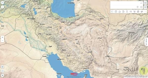سرویس مپ، نقشه خیابان های ایران آنلاین