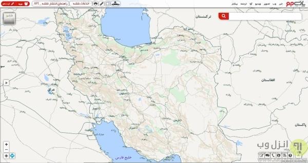 سایت نقشه بومی ایران آنلاین، پارسی جو