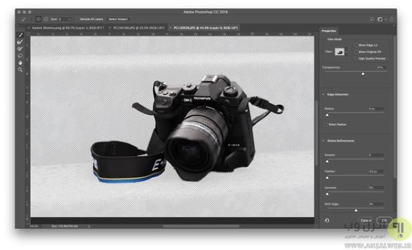 روش انتخاب و حذف پس زمینه در فتوشاپ برای ذخیره عکس در فتوشاپ با فرمت PNG