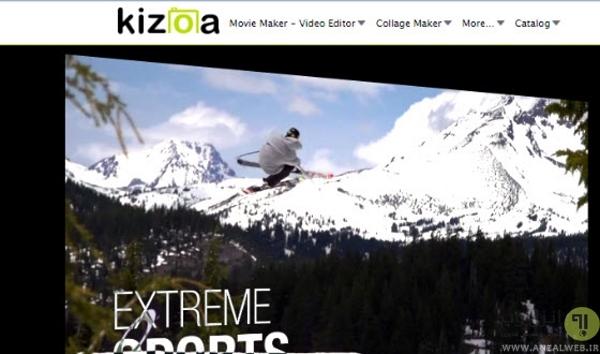 ساخت فیلم آنلاین با Kizoa