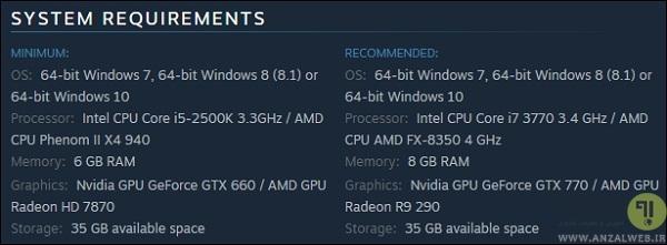 تست سیستم کامپیوتر برای بازی