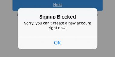 رفع مشکل ثبت نام و ارور Signup Blocked در اینستاگرام