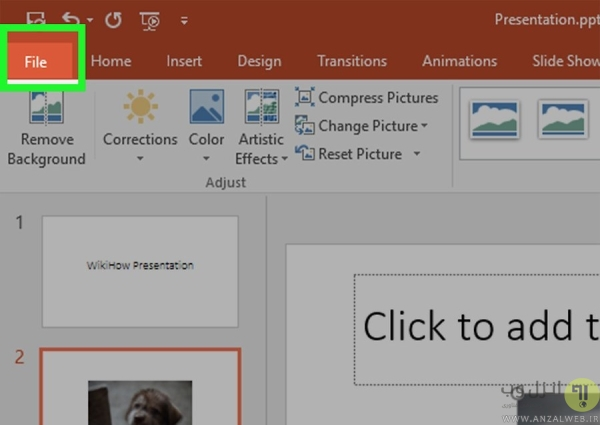 حذف Edit Data از پاورپوینت برای کاهش حجم فایل پاورپوینت