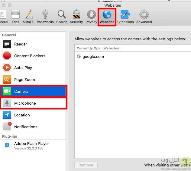 تنظیم مجوز دسترسی به میکروفن سایت ها در گوگل کروم