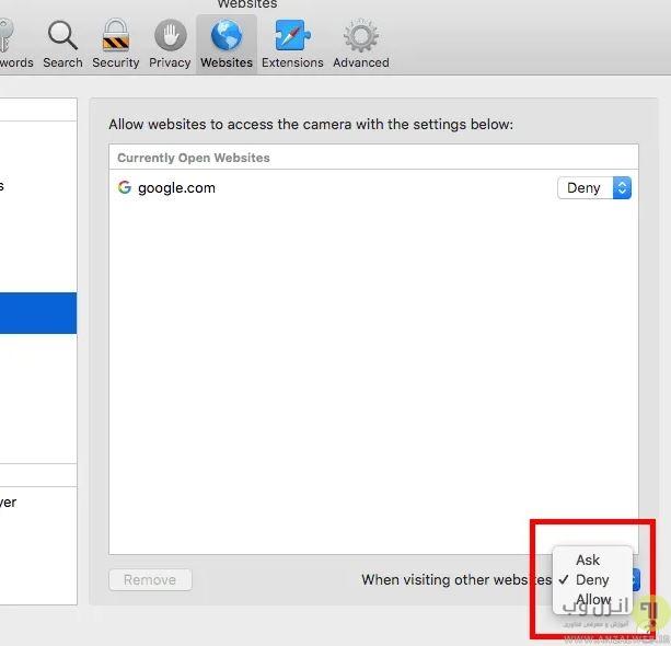 دسترسی به وب کم لپ تاپ در گوگل کروم