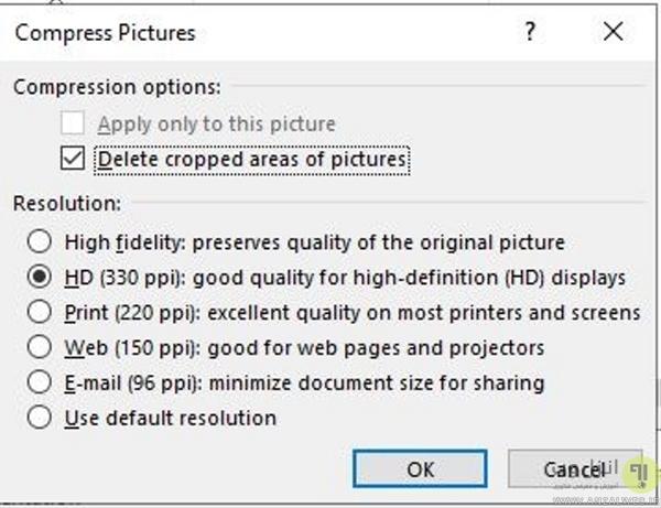 چگونه حجم فایل پاورپوینت را کاهش دهیم؟ تغییر روش اضافه کردن عکس