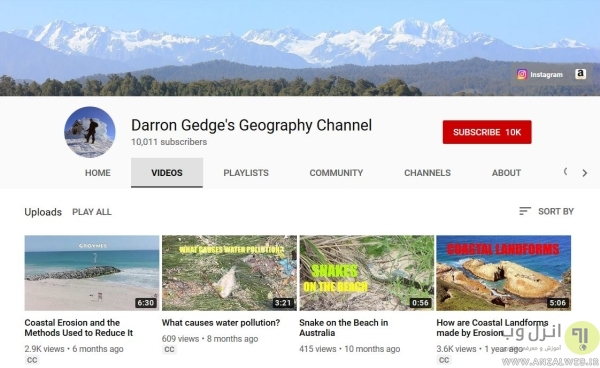 کانال ویدیویی یادگیری نام پایتخت آنلاین