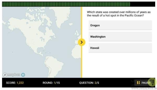 برنامه موبایل یادگیری نام پایتخت کشورها آنلاین