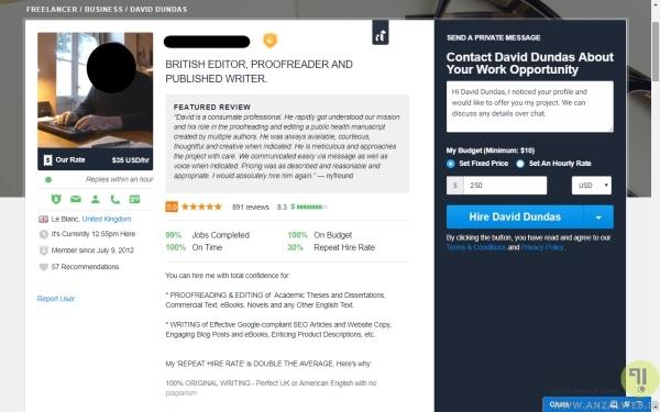 ساخت پروفایل موثر در سایت Freelancer
