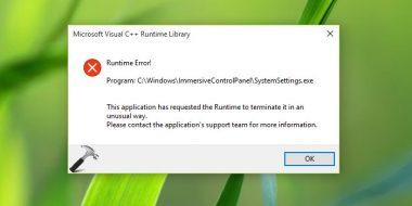 حل مشکل ارور Runtime Error در ویندوز 10 ، 8 و 7