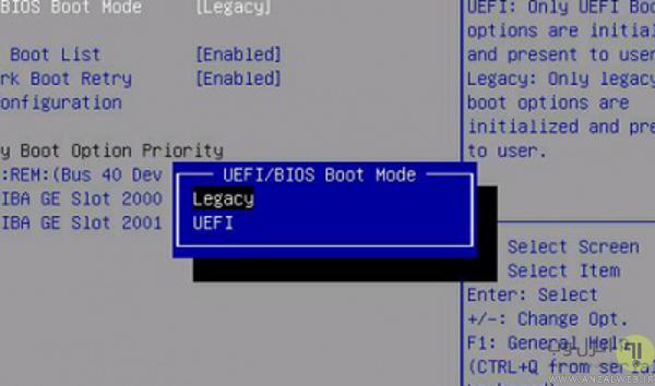 تنظیمات uefi در ویندوز 10