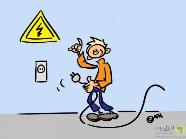 ریستارت کردن تلویزیون برای رفع مشکل وای فای تلویزیون ال جی و..
