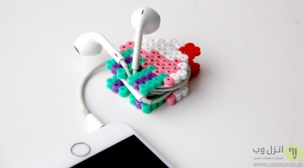 استفاده از Hama beads برای ساخت جا هدفونی