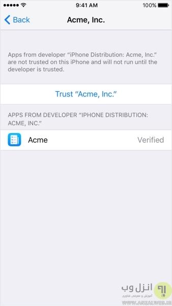 روش وریفای کردن برنامه اپل و رفع مشکل Unable to Verify App در آیفون