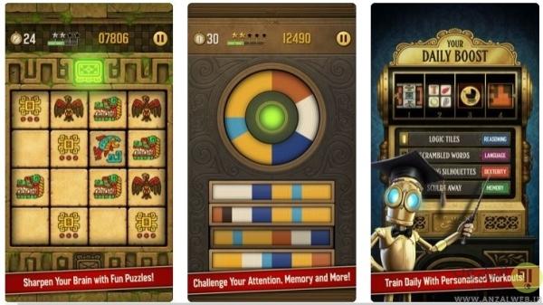 بهترین بازی های فکری رایگان آیفون، A Clockwork Brain Training