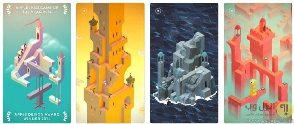 Monument Valley 1 & 2، بهترین بازی فکری برای آیفون