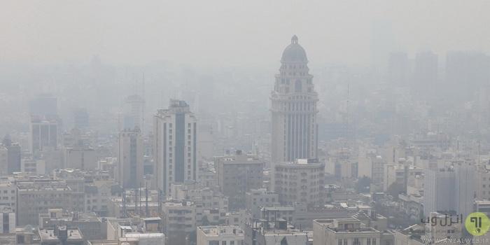 نقشه آلودگی هوای تهران و سایر شهرهای ایران آنلاين