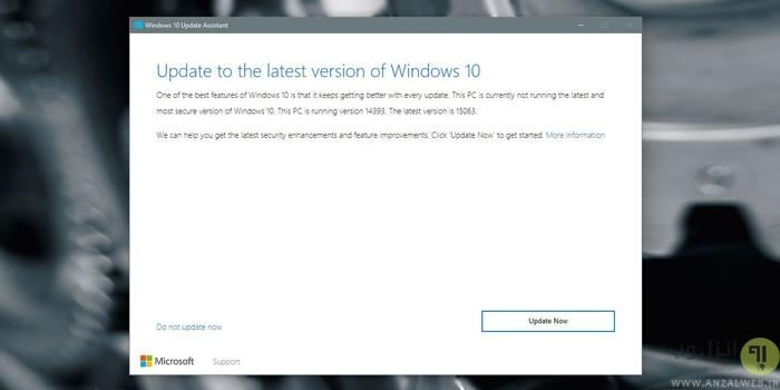 آموزش 4 روش جلوگیری از نصب Windows 10 Update Assistant