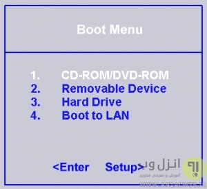 بررسی اولویت بندی بوت برای رفع مشکل Disk Boot Failure Insert System Disk And Press Enter