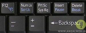 دکمه Pause Break در کیبورد لپ تاپ کجاست؟