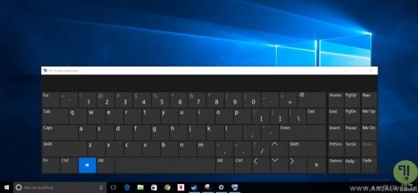استفاده از کلید روی صفحه (On-Screen Keyboard)