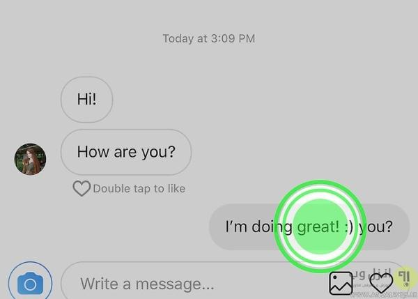 نحوه حذف پیام ارسال شده در دایرکت (حذف دوطرفه پیام در اینستاگرام)