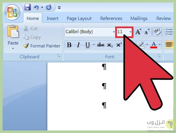 آموزش تصویری حذف صفحه در ورد جدول دار