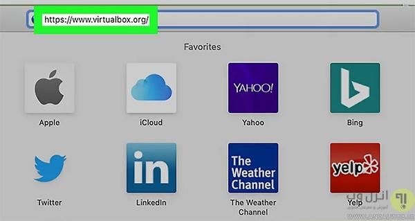نصب virtualbox روی مک