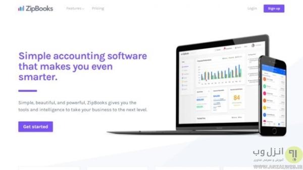 نرم افزار ZipBooks بهترین برنامه حسابداری