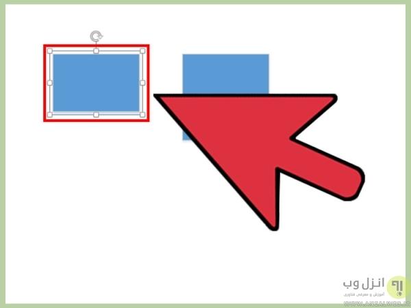 آموزش کار با ویزیو، تغییر رنگ اشکال