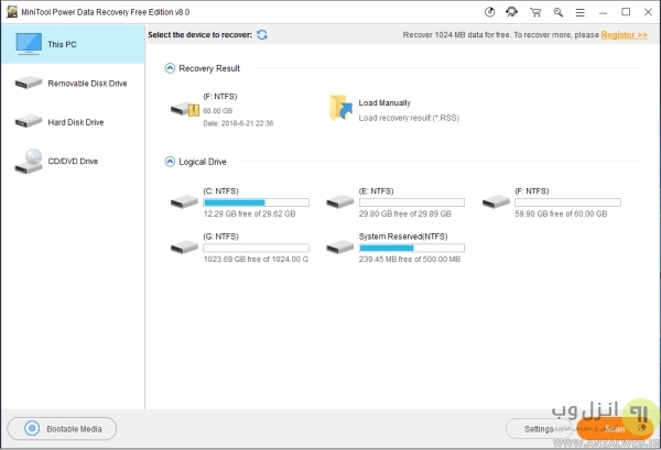 ریکاوری فایل پاورپوینت با برنامه MiniTool Power Data Recovery (بازیابی فایل سیو نشده در پاورپوینت)