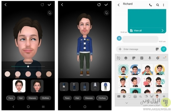 ساخت ایموجی از عکس با Samsung AR Emoji (میموجی سامسونگ)