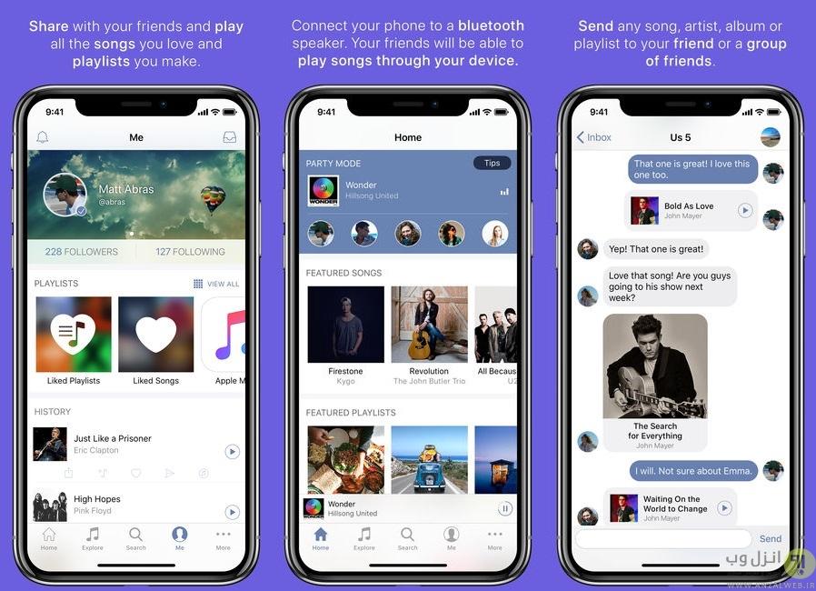 اپلیکیشن موزیک خارجی برای آیفون