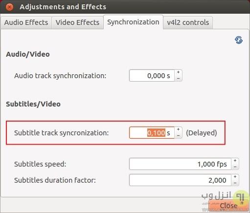 آموزش جلو و عقب بردن و تنظیم زیر نویس در پلیر VLC
