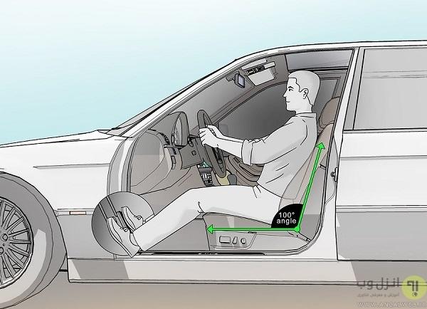 آموزش تصویری تنظیم صندلی خودرو